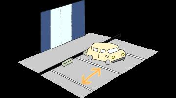 駐車しやすい店舗の前面・幅広の駐車スペース